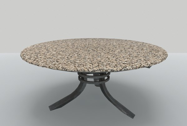 3D model table marble