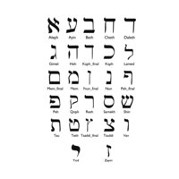 hebrew alphabet letters 3D