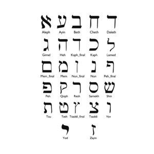 hebrew alphabet letters 3D
