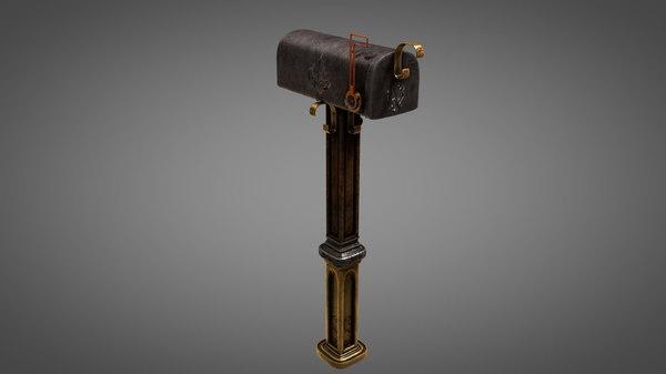 fantasy mailbox 3D model