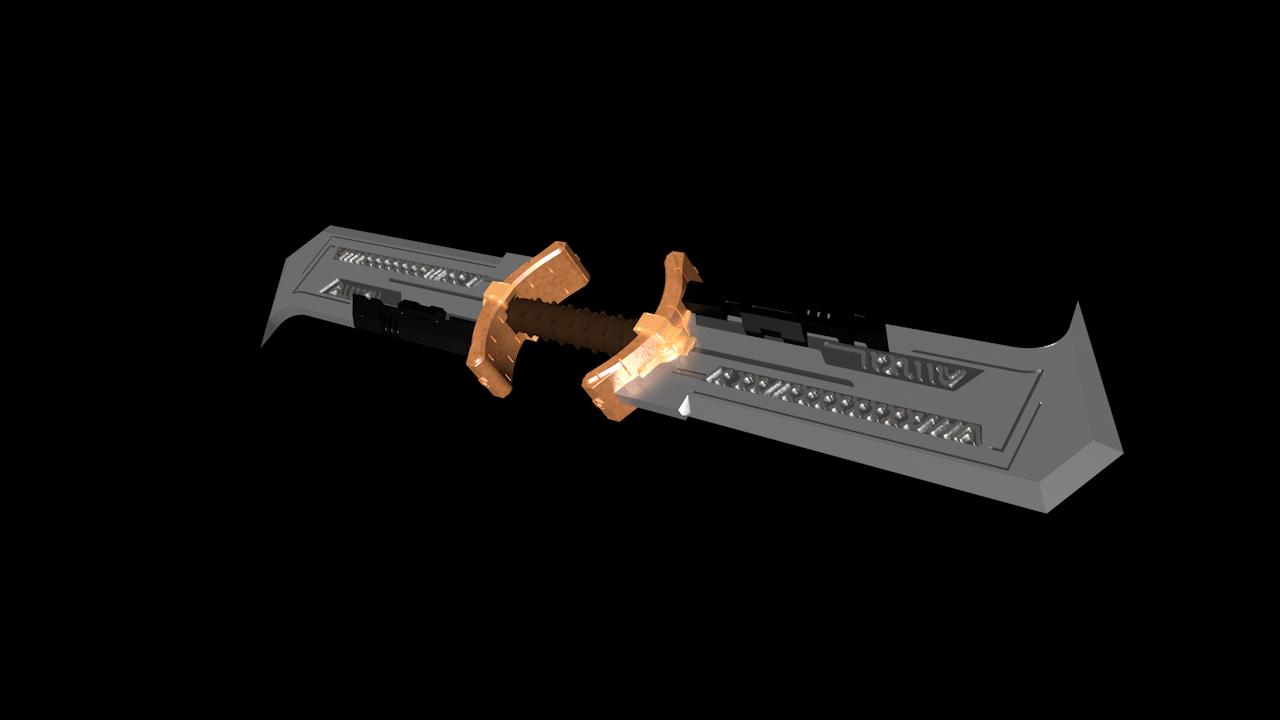 endgame weapon thanos 3D model