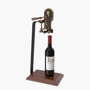 corkscrew open 3D