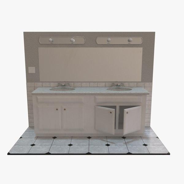 double vanity 3D model