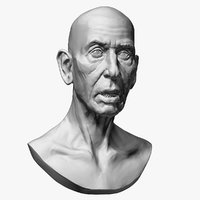 old man sculptures model