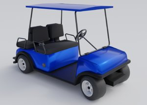 3D model golf car cart