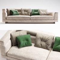 3D minotti sofa set 01