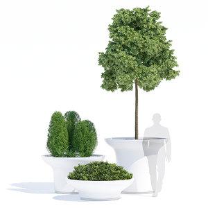3D balzac planters