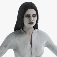 3D female ghost model