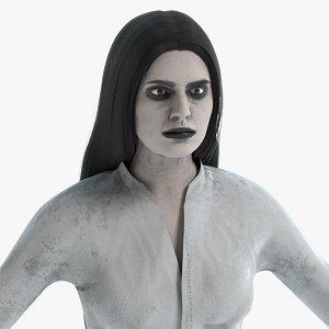3D female ghost model
