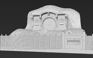 3D printing ready bag end