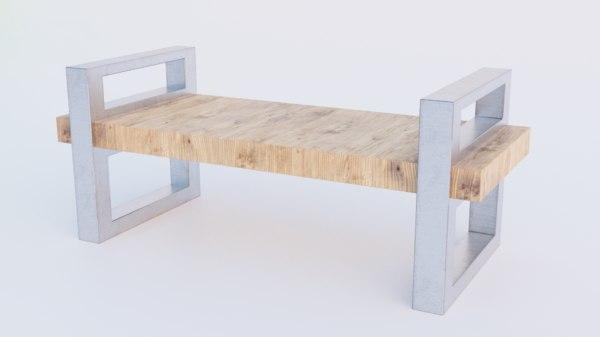 bench 2k pbr 3D model