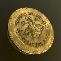 3 coin 3D model