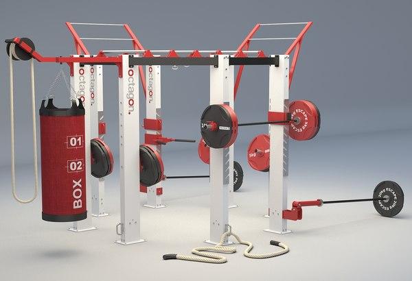 escape fitness octagon training 3D model
