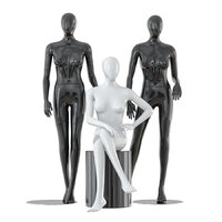 faceless female mannequins 3D model