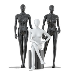 faceless female mannequins 3D model