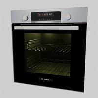 realistic built-in oven 3D model