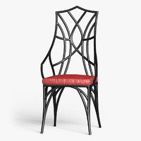 chair v-ray model