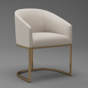 3D emery barrelback slope dining chair