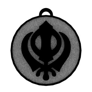 khanda symbol 3D model