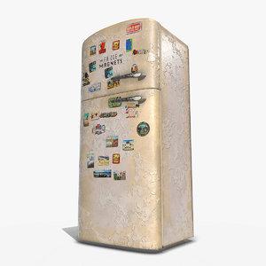 old fridge pbr 3D