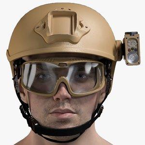 male military head model
