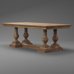 3D st james dining table model