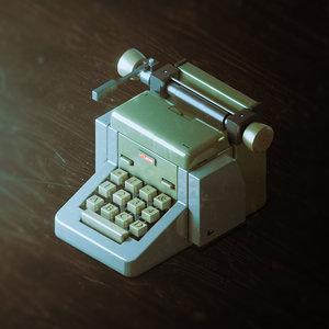 3D model typewriter writer