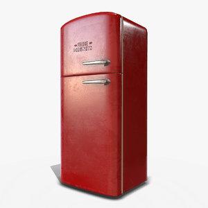 3D retro refrigerator pbr