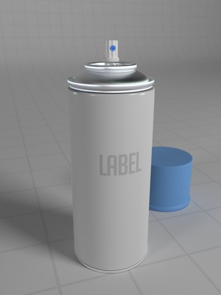 bug repellent spray 3D model