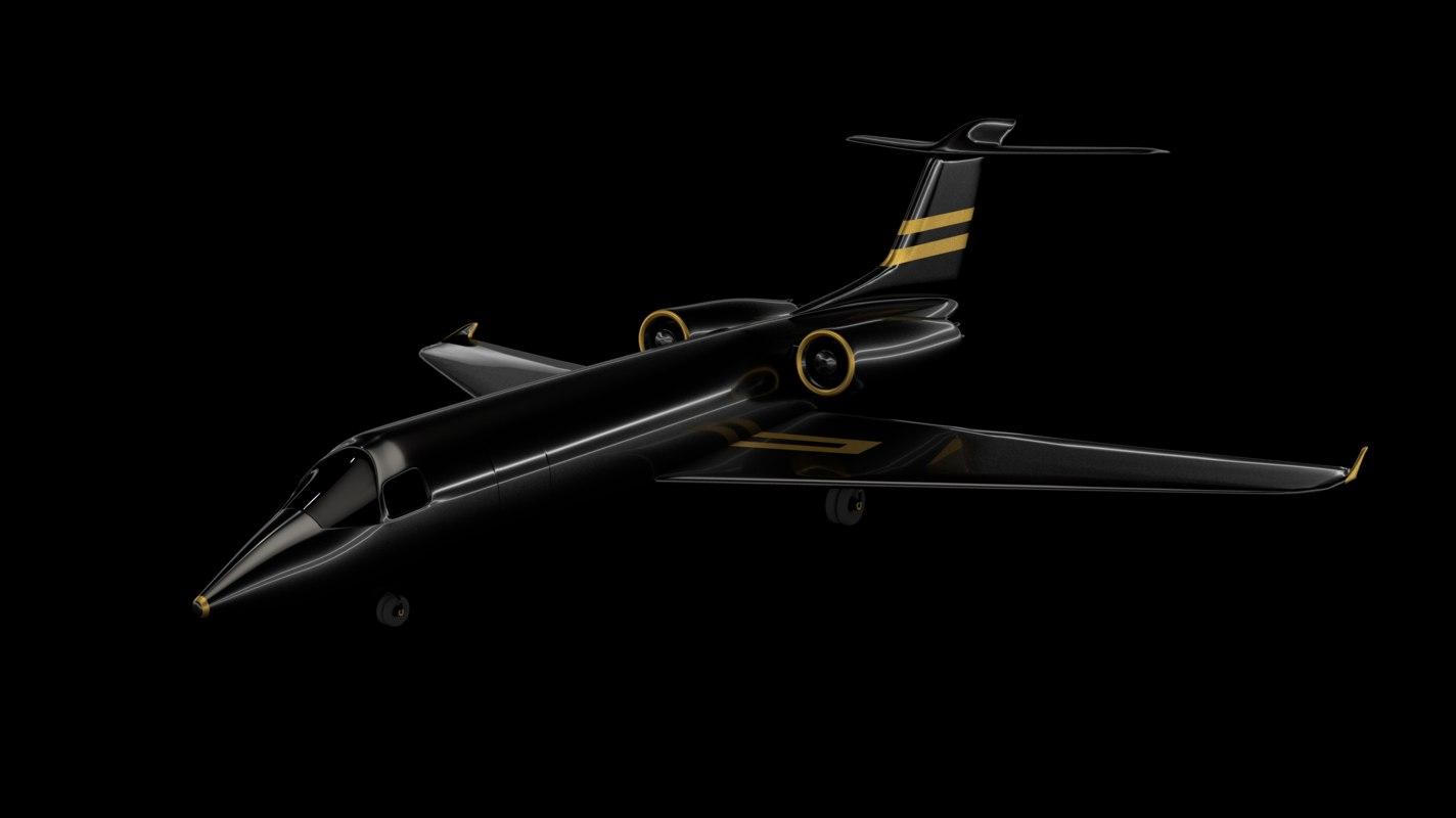 airplane black generic aircraft 3D model