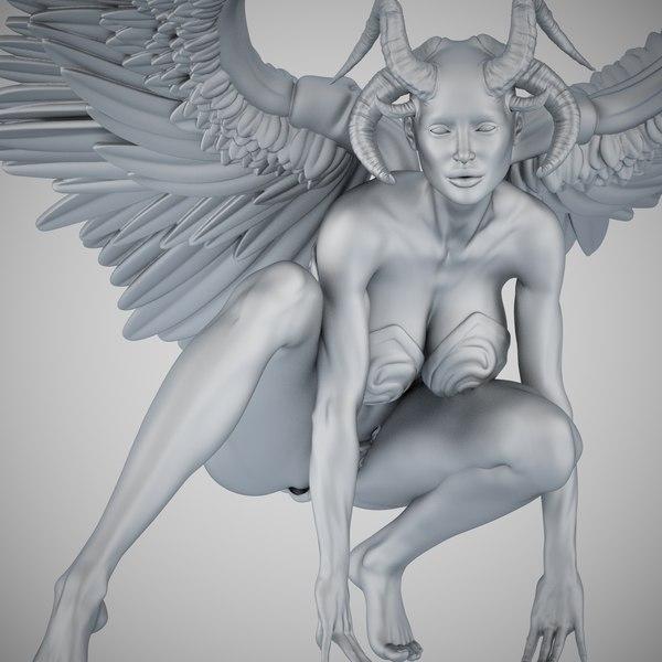 angel evil 3D