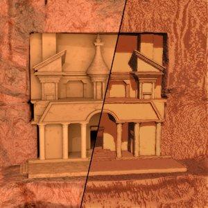 cliff structure book illustration 3D model