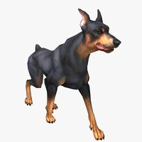 3D doberman animal