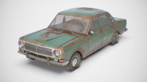 old classic sedan 3D model