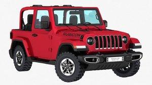jeep wrangler rubicon 2019 3D model