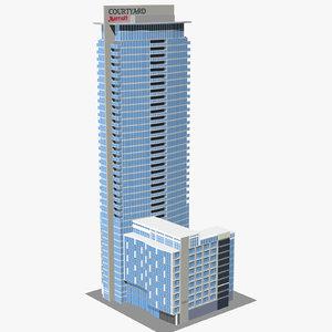 marriott courtyard hotel montreal 3D