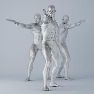 man gun 3D model