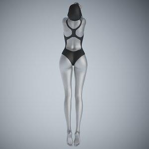 3D swim suit girl model