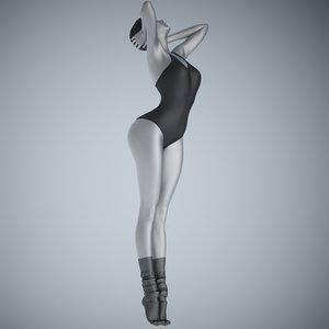 3D swim suit girl