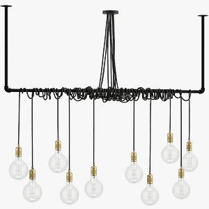 3D pendant lamps e27 model