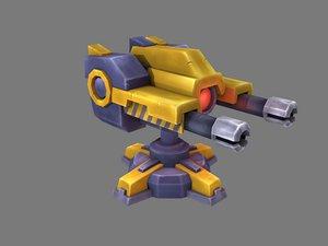 double gun turret model