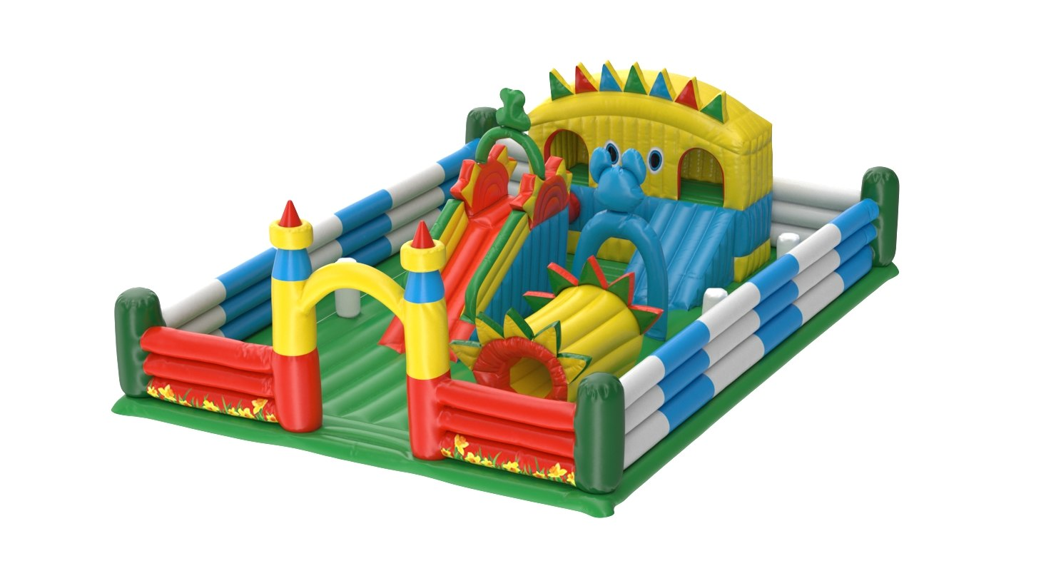 3D model realistic inflatable playground