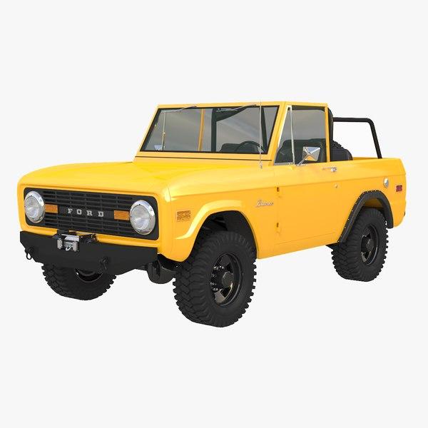 3D bronco 4x4 1966