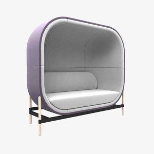 3D model sofa capsule designers