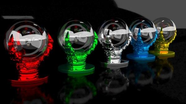 globe holder spheres 3D