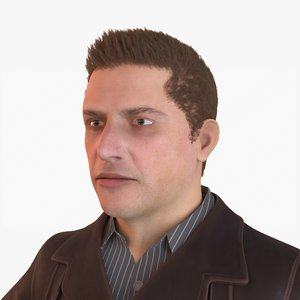 3D model human guy businessman