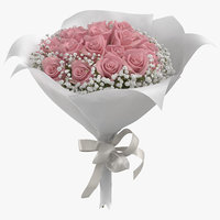 Pink Rose Bouquet 01