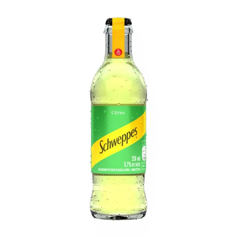 3D citrus glass bottle