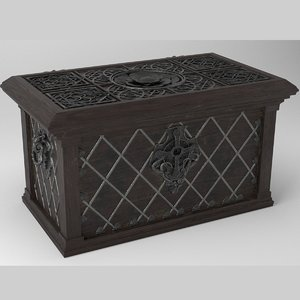 tudor medieval chest trunk 3D model
