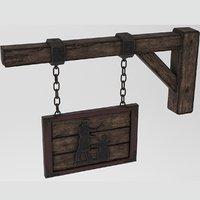 medieval blacksmith sign model